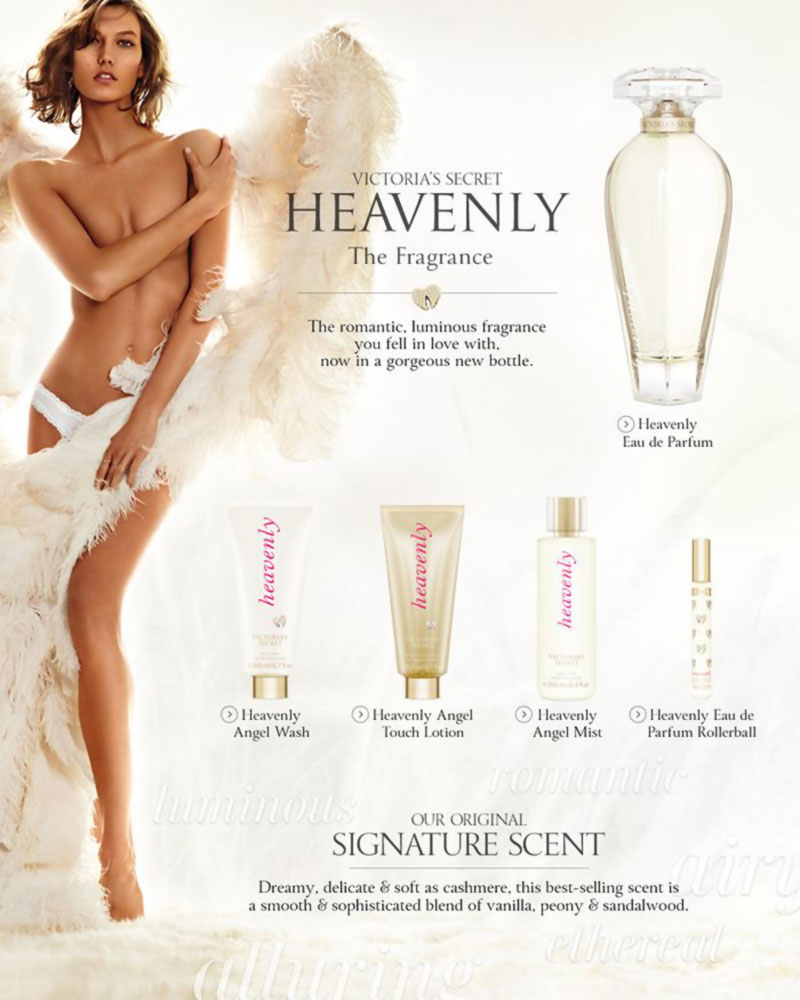 Karlie Kloss Victoria S Secret Heavenly Perfume Stylefrizz Photo