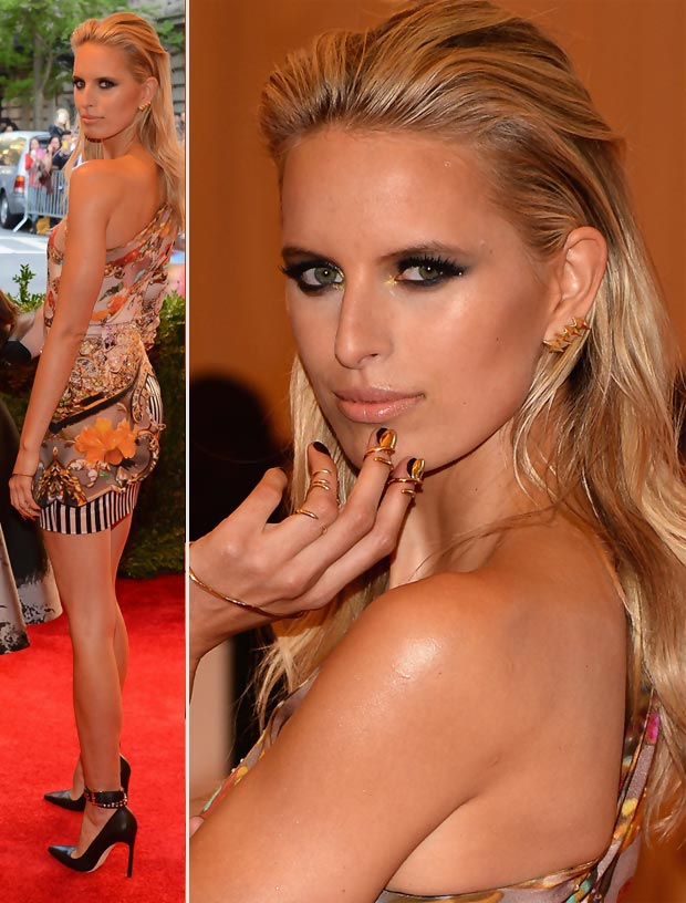 Karolina Kurkova Mary Katrantzou printed dress 2013 Met Gala