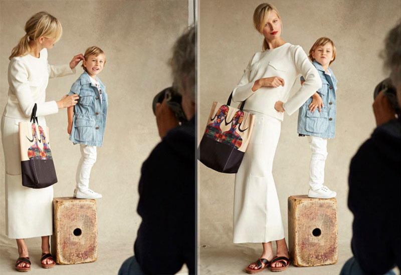 Karolina Kurkova pose with son Born Free Africa Patrick Demarchelier