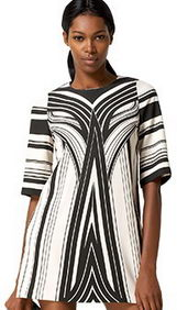 Karta Patterned Shift Dress front view