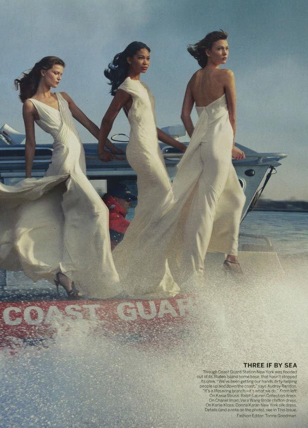 Kasia Struss Chanel Iman Karlie Kloss Vogue February 2013