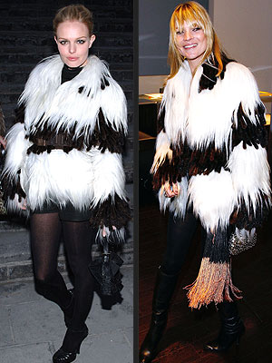 Kate Moss and Kate Bosworth Fendi Fur Coat