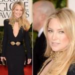 Kate Hudson black McQueen dress 2013 Golden Globes