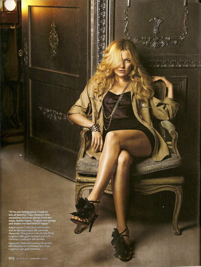 Kate Hudson Instyle US January 2009 Stella McCartney 2