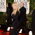 Kate Hudson McQueen black dress cleavage 2013 Golden Globes