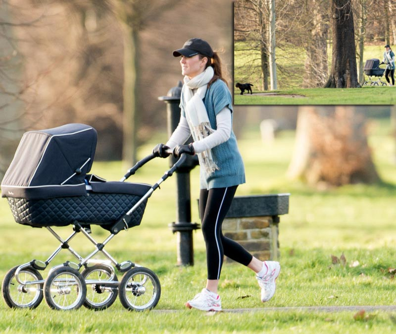 Kate Middleton jogging outfit park