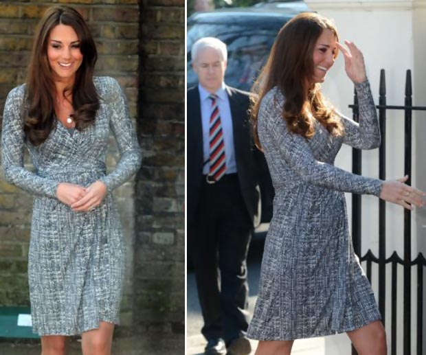 Kate Middleton pregnant baby bump