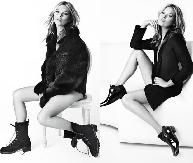 Kate Moss Needs A Body Double For This Stuart Weitzman Ad Campaign?