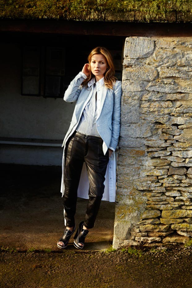 Kate Moss advertises for Rag and Bone Spring