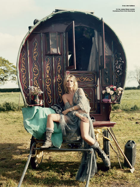 Kate Moss and the Gypsies V Magazine 61