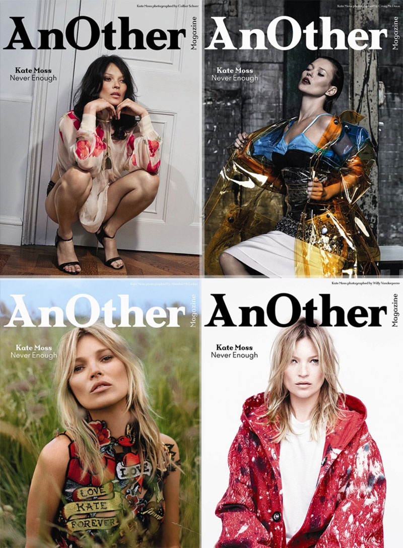 Kate Moss Another Fall 2014 4 covers