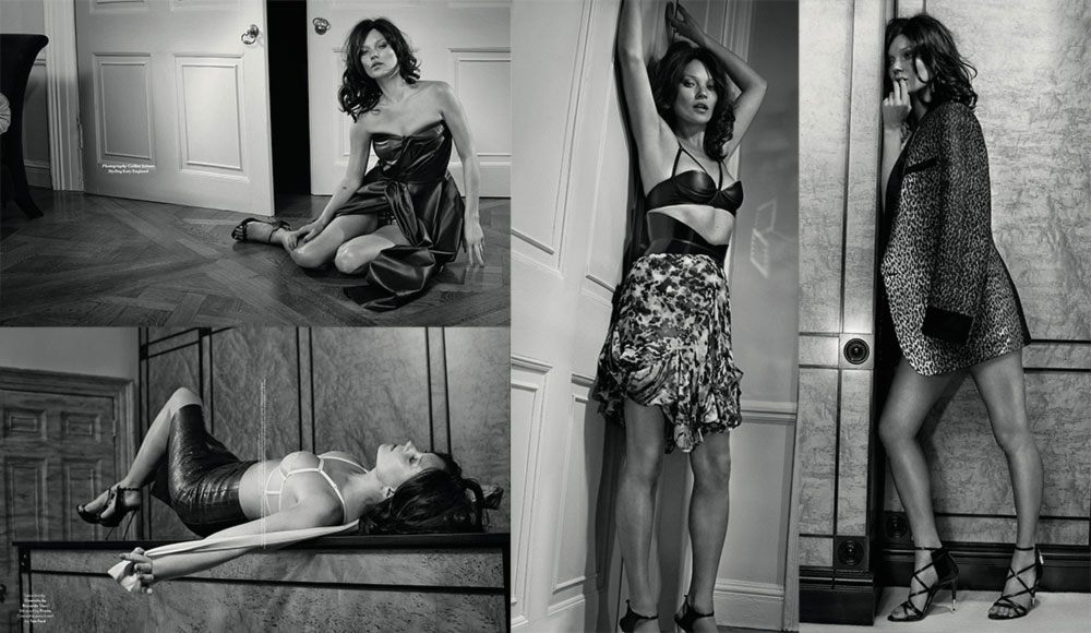 Kate Moss black and white pictures Another FW14 Collie Shorr