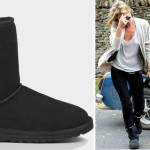 Kate Moss boots short black suede UGGs