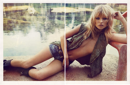 Kate Moss by Inez and Vinoodh for French Vogue Magazine April