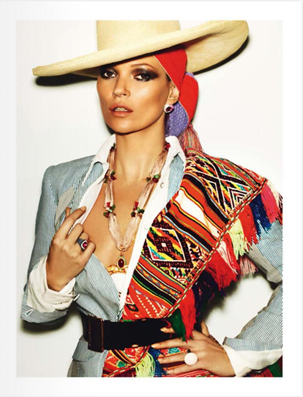 Kate Moss by Testino Vogue Paris Peru issue
