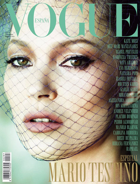 Kate Moss' Vogue Spain December 2012: Flawless Testino!