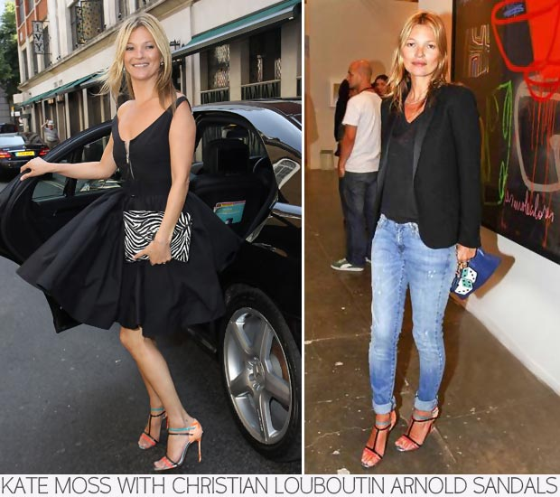 Kate Moss Really Loves Her Louboutin Strappy Sandals!