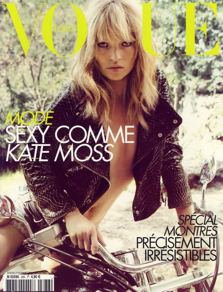 Kate Moss Cover for French Vogue Magazine April