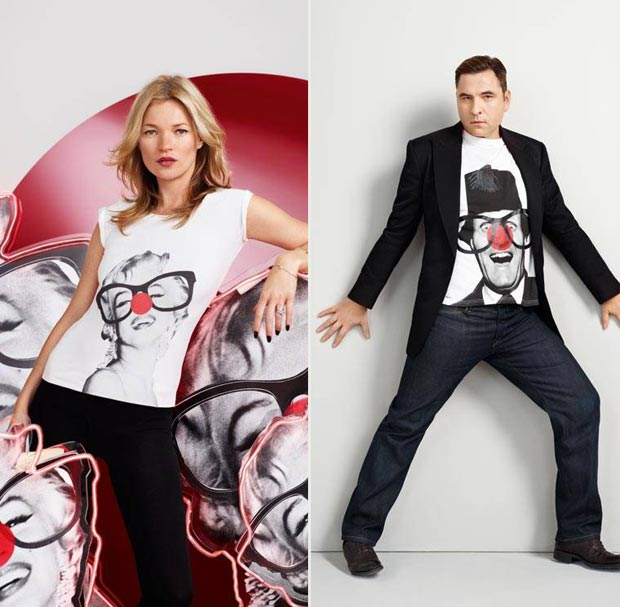 Kate Moss David Walliams Red Nose Comic Relief 2013