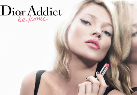 Kate Moss Dior Addict the Iconic Lipstick ad campaign