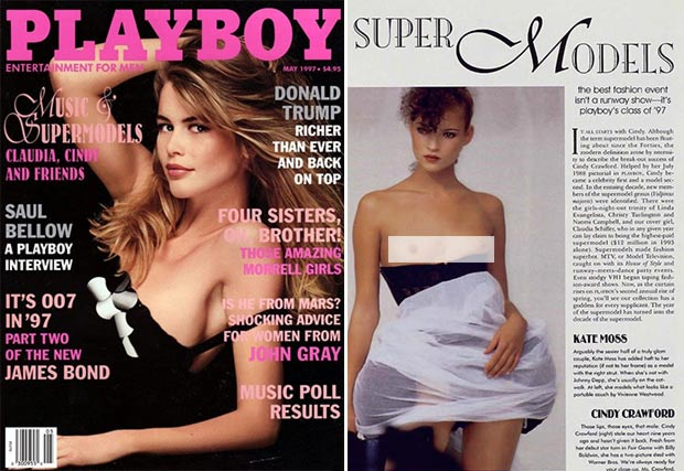 Kate Moss first appearance in Playboy May 1997
