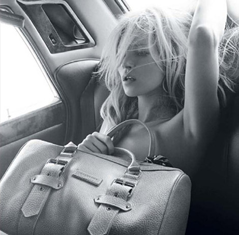 Kate Moss for Longchamp bags collection Summer 2010