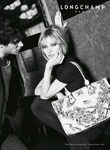 Kate Moss Gaspard Ulliel For Longchamp Fall Winter 2008 2009 Advertising Campaign
