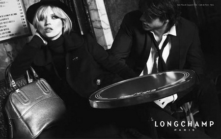 Kate Moss Gaspard Ulliel For Longchamp Fall Winter 08 09 Ad Campaign
