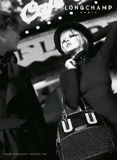 Kate Moss Gaspard Ulliel For Longchamp Fall Winter 2008 2009 Ad Campaign
