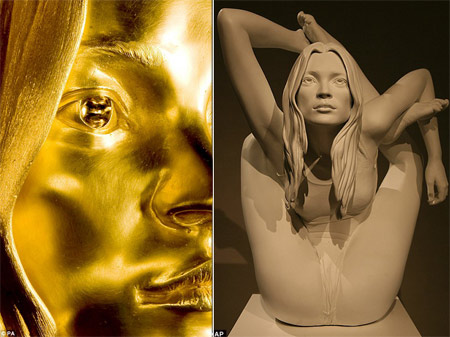 Kate Moss Golden Statue Marc Quinn