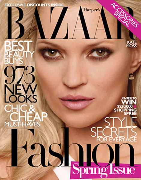Kate Moss Harpers Bazaar March 2010 cover