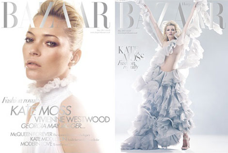 Kate Moss Harper s Bazaar McQueen Tribute May 2011 covers