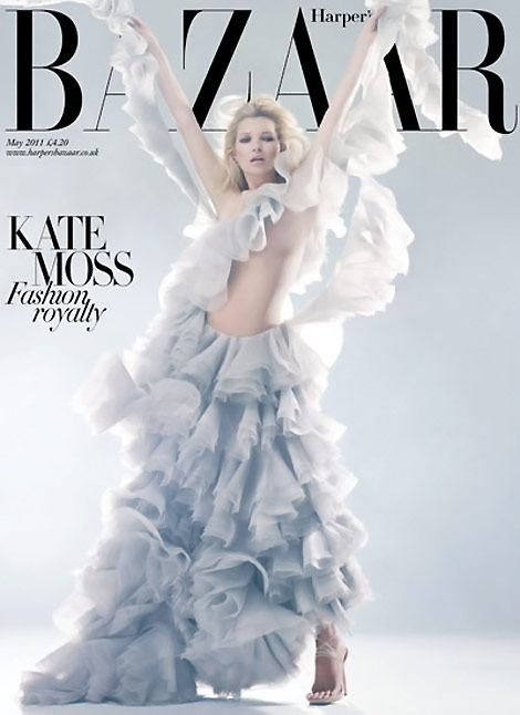 Kate Moss Harper s Bazaar McQueen Tribute May 2011 second cover