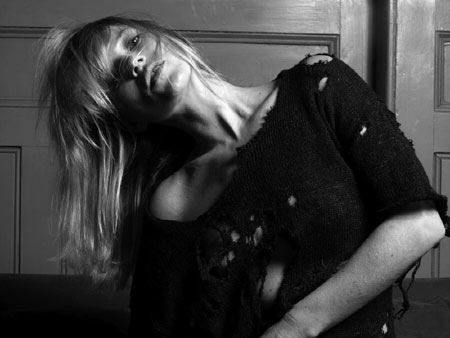 Kate Moss by Hedi Slimane for Liberation Sweater picture