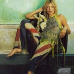 Kate Moss in Vogue UK October 08