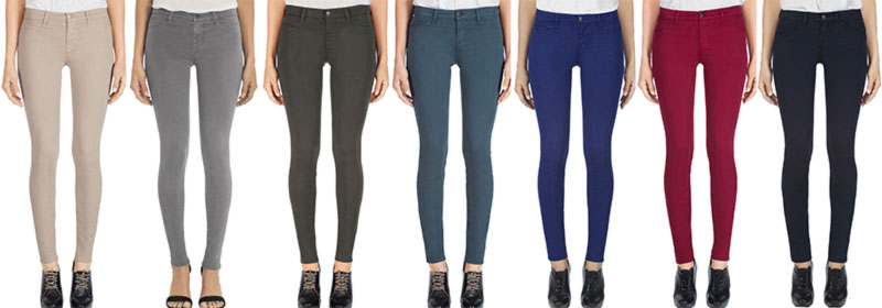 Kate Moss JBrand skinny jeans colors