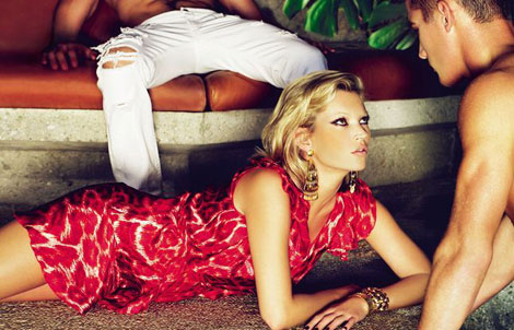 Kate Moss Just Cavalli SS09 ad campaign 1