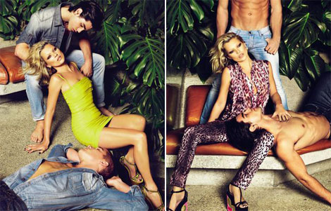 Kate Moss Just Cavalli SS09 ad campaign 3