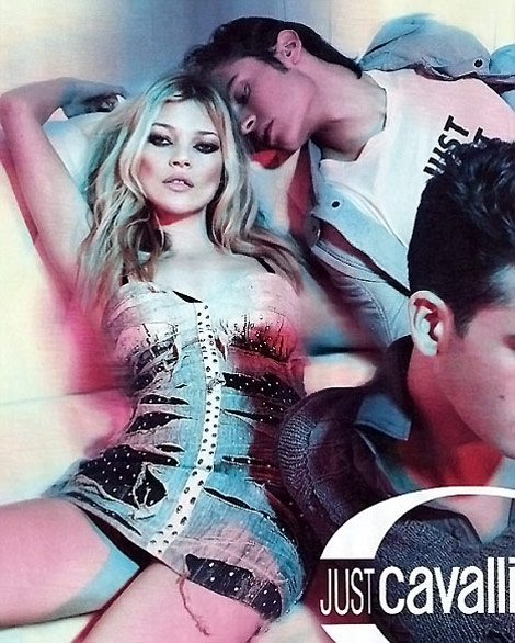 Kate Moss Just Cavalli Spring Summer 2010 Ad Campaign