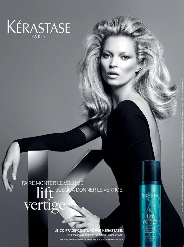 Kate Moss New Hairdo For Vogue Kerastase Promotion