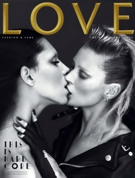 Kate Moss Kisses Lea T For Love Summer 2011 Cover