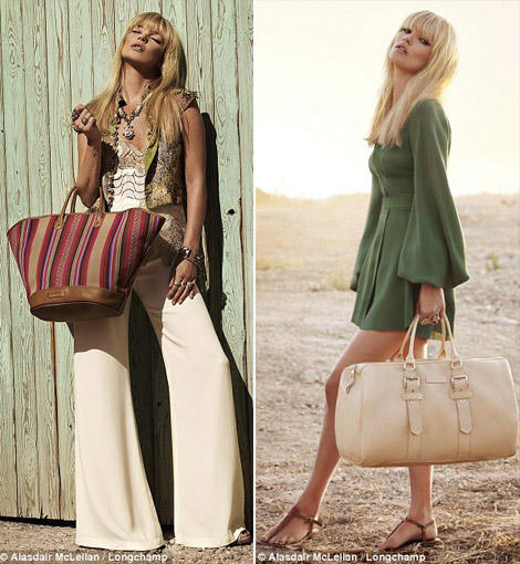 Kate Moss Longchamp bags summer 2011