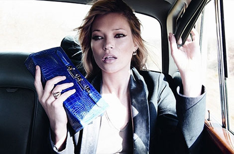 Kate Moss Longchamp Fall Winter 2010 clutch