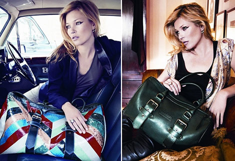 Kate Moss Longchamp Fall Winter 2010 handbags