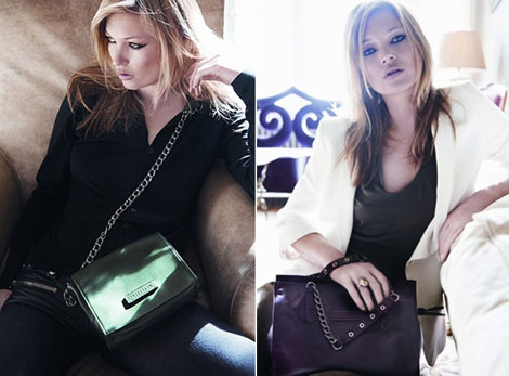 Kate Moss Longchamp Fall Winter 2010 shoulder bags