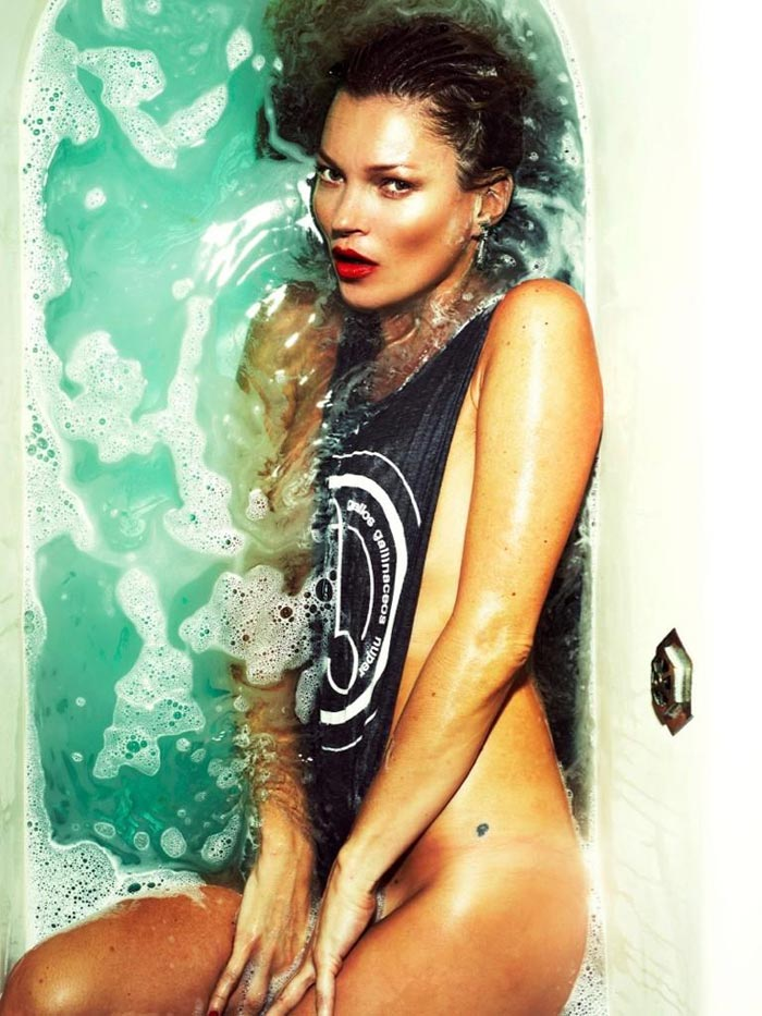 Kate Moss Love cover without Photoshop