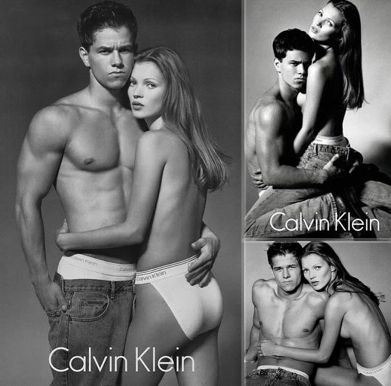 Kate Moss Mark Wahlberg Calvin Klein campaign 1992