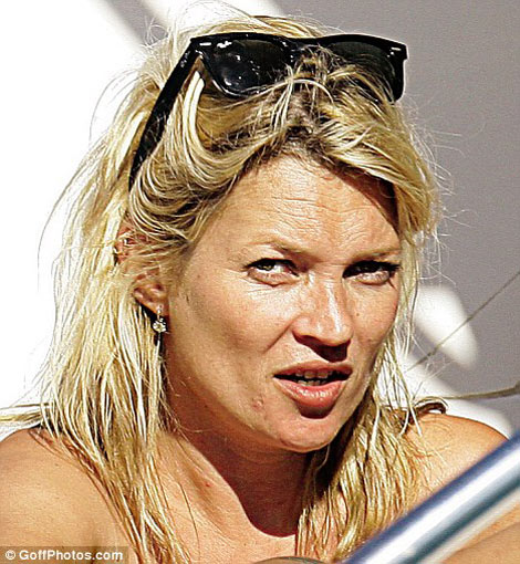 Kate Moss Natural no makeup