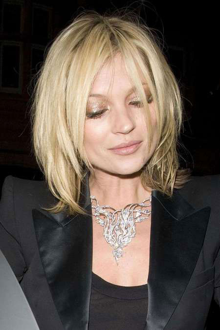 Medium Layered Haircuts-Kate Moss Kate Moss – medium layered haircut