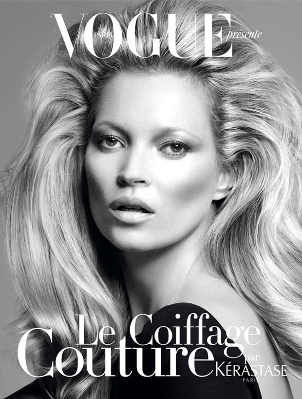 Kate Moss new hairdo for Kerastase